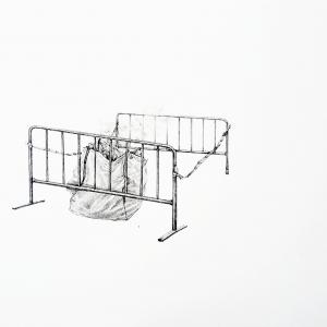 Mon espace, 2018, graphite sur papier, 29.7 x 21.0 cm