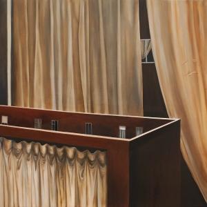 Autoportrait, 2017, peinture à l'huile sur toile, 130 x 97 cm