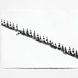 Sans titre, 2018, graphite sur papier, 76 x 56 cm