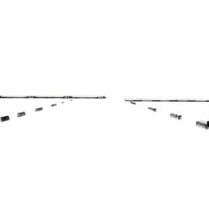 Série de Portrait de la société, 2017, graphite sur papier, chacun 76 x 56 cm chacun